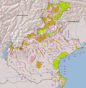 Hattusas - Progetto - Salafossa - Distribuzione dei siti Rete Natura 2000 in Veneto