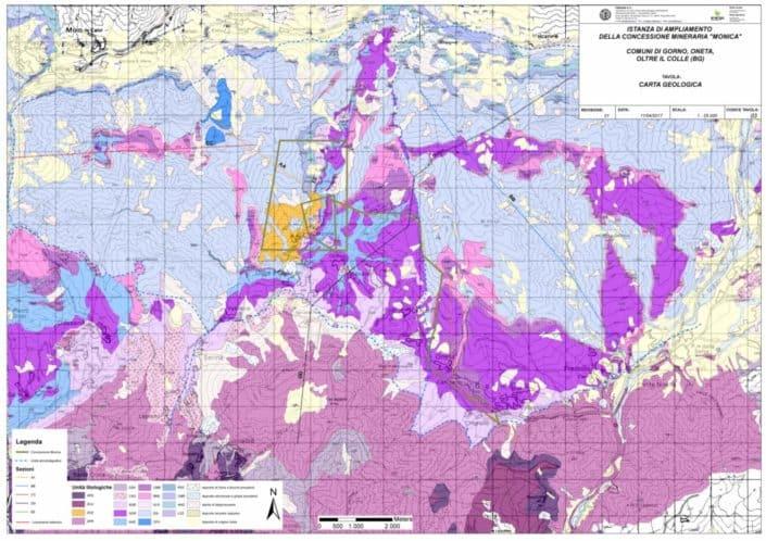 hattusas - progetto - gorno zinc project - carta geologica intera