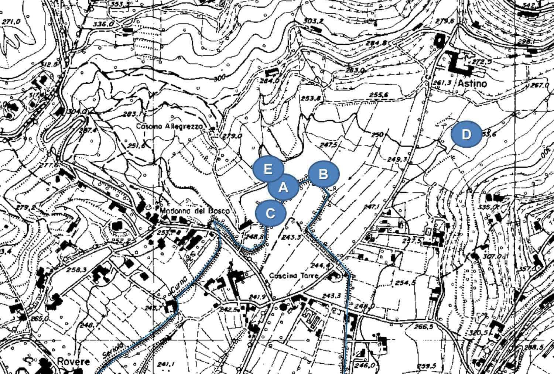 Hattusas - Bergamo - Valle d'Astino - Ambienti umidi campionati nel corso delle indagini per la macrobentofauna