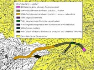 Hattusas - Piano Naturalistco - Foppolo - Piste da sci - cartografia degli habitat
