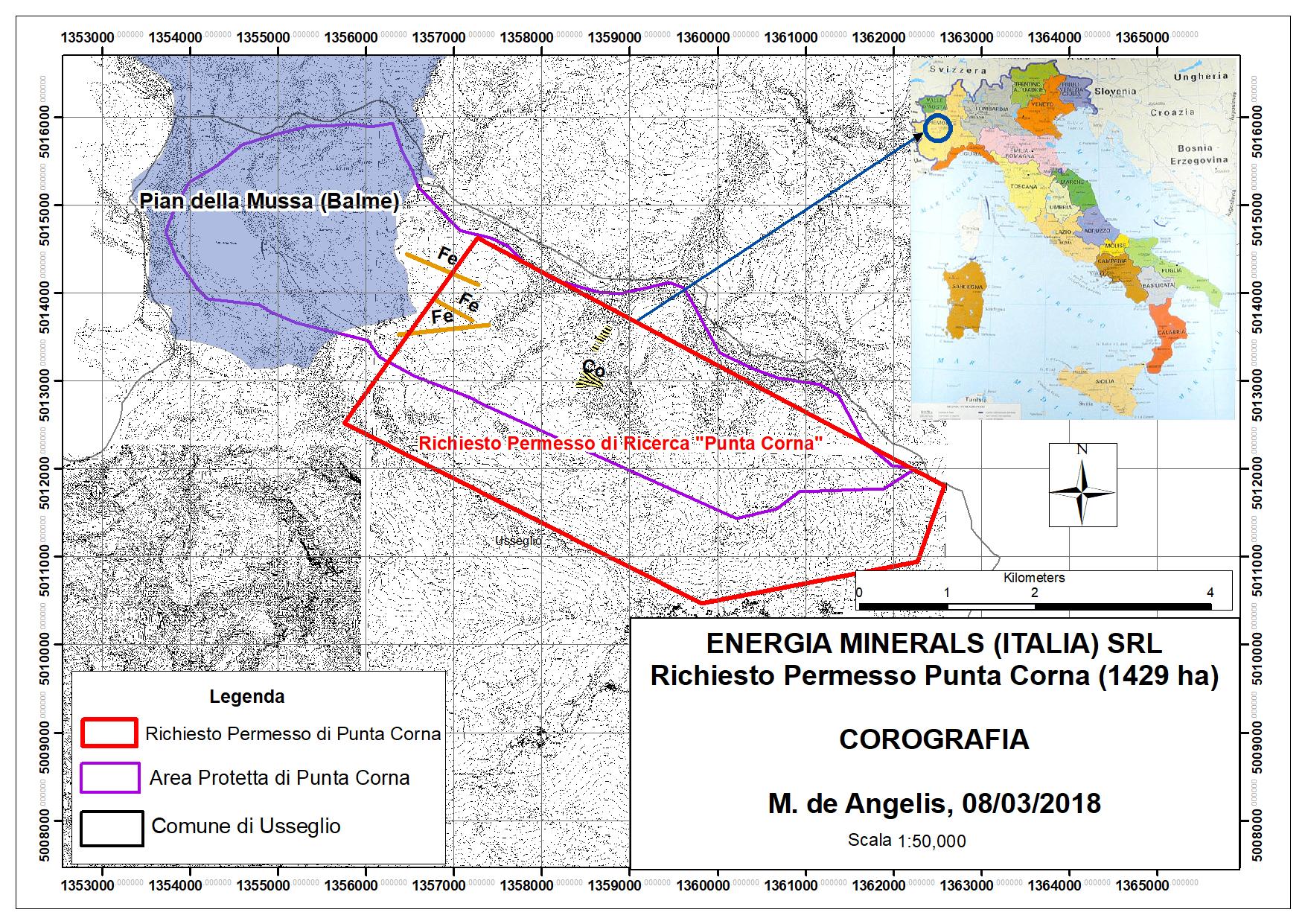 Hattusas - Usseglio - Richiesta Permesso Minerario Punta Corna